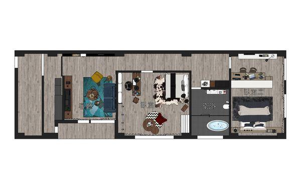 台中東勢舊屋翻新 三樓室內空間設計平面圖.jpg