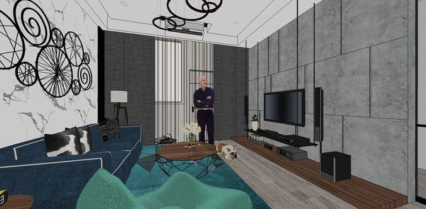 老屋改造翻新 客廳空間電視牆設計.jpg