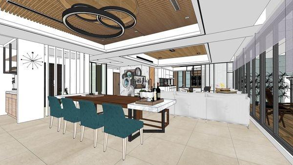 台南府都建設 DOUBLE ONE 休閒區造型天花板設計.jpg