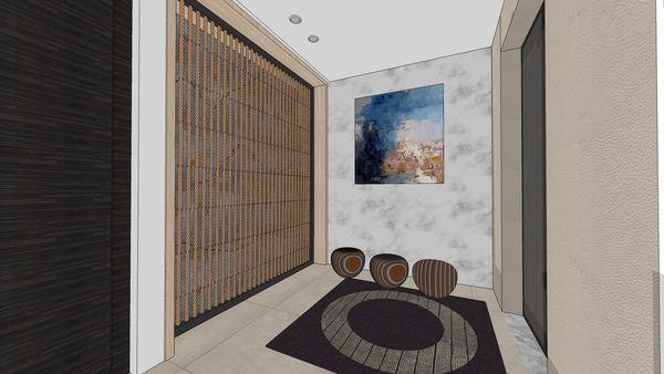 台南府都建設 DOUBLE ONE 電梯口端景牆設計.jpg