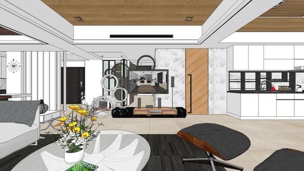 台南府都建設 DOUBLE ONE 客廳空間造型電視牆設計.jpg