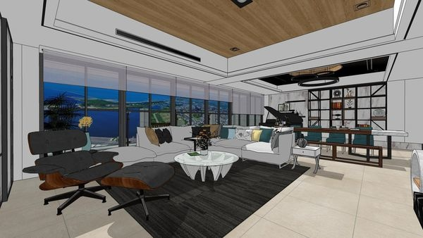 台南府都建設 DOUBLE ONE 客廳空間天花板設計.jpg