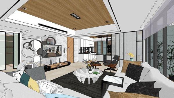 台南府都建設 DOUBLE ONE 客廳空間設計.jpg