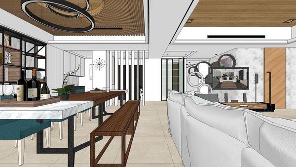 台南府都建設 DOUBLE ONE 客廳空間休閒區設計.jpg