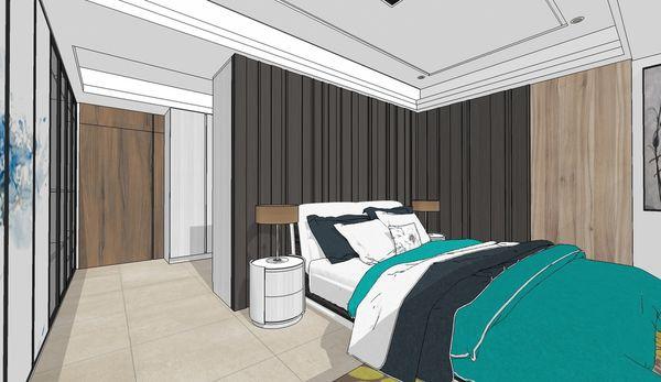 台南府都建設 DOUBLE 主臥室空間床頭造型設計.jpg