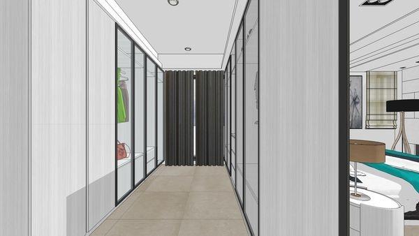 台南府都建設 DOUBLE 主臥室空間更衣室空間設計.jpg