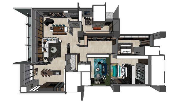 台南府都建設 DOUBLE ONE 室內空間設計規劃3D圖.jpg