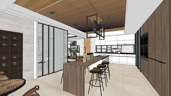 台南府都建設 DOUBLE 廚房空間吧台設計.jpg