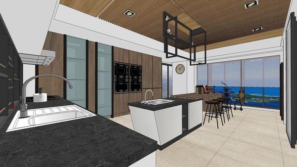 台南府都建設 DOUBLE 廚房空間吧台區設計.jpg