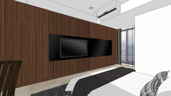 台南府都建設 DOUBLE 次臥室空間電視牆設計.jpg
