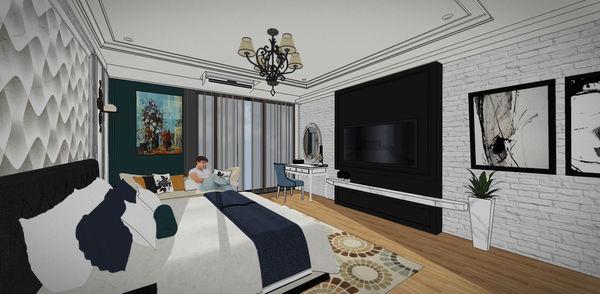 汽車旅館設計 電視牆設計.jpg