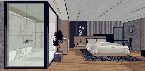 汽車旅館設計 睡眠區系統櫃設計.jpg