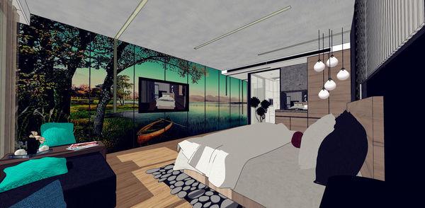 汽車旅館設計 睡眠區電視牆大圖輸出設計.jpg