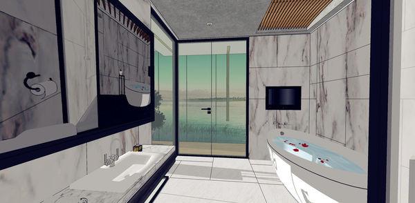 汽車旅館設計 衛浴空間造型檯面收納櫃設計.jpg