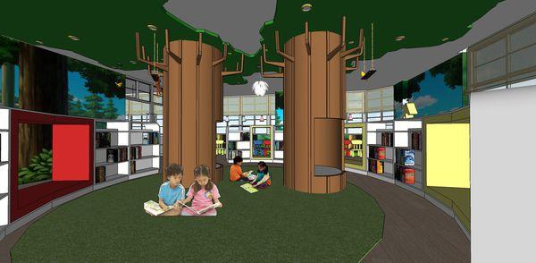 圖書館空間室內設計 大樹造型樹屋閱讀區設計.jpg