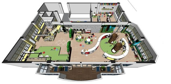 圖書館空間室內設計 室內空間設計規劃3D圖.jpg