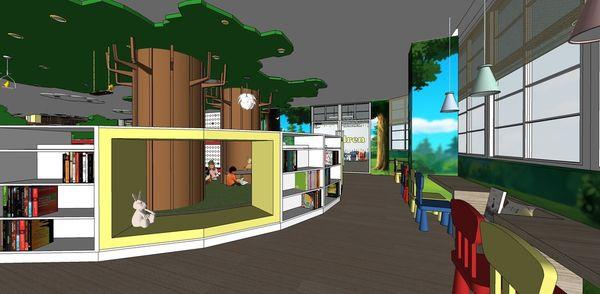 圖書館空間室內設計 造型收納書櫃設計.jpg