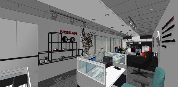 NISSAN辦公室設計 入口造型系統收納櫃設計.jpg