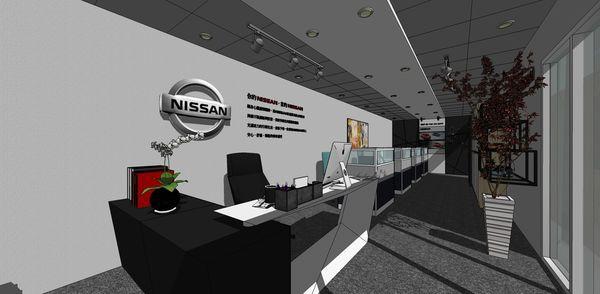 NISSAN辦公室設計 主管處LOGO主牆設計.jpg