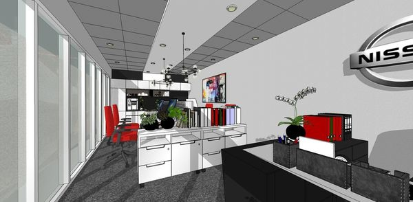 NISSAN辦公室設計 入口處主管座位區設計.jpg
