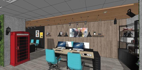科技公司辦公室設計 四人辦公區空間設計.jpg
