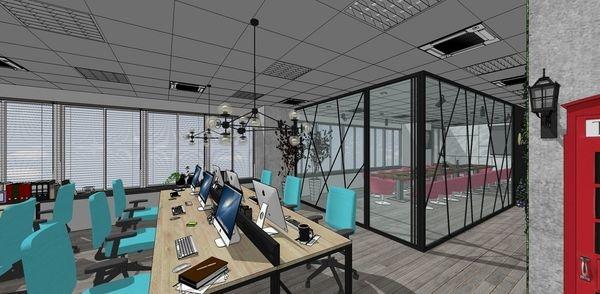 科技公司辦公室設計 辦公區空間設計.jpg