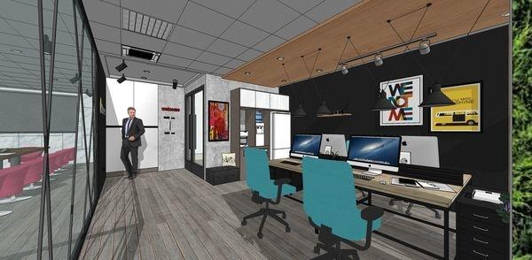 科技公司辦公室設計 室內規劃設計3D圖 辦公空間系統收納櫃設計.jpg