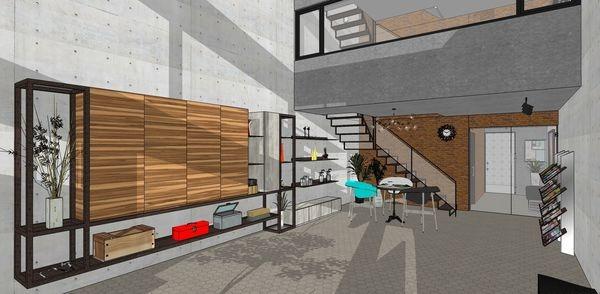 台中辦公室設計 一樓接洽區鐵件系統櫃設計.jpg