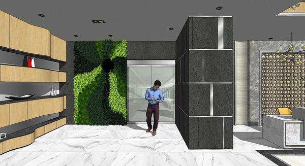 企業大廳設計 展示區造型系統櫃設計.jpg