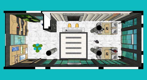企業大廳設計 室內空間規劃設計3D圖.jpg