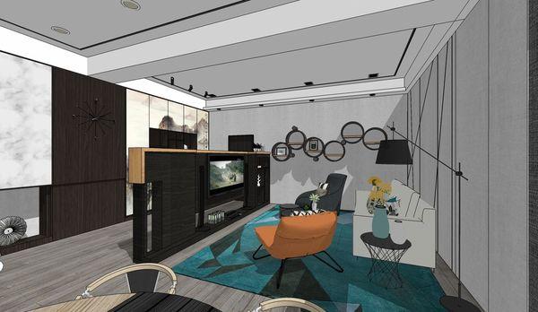 台中老屋翻新 客廳空間系統櫃設計.jpg