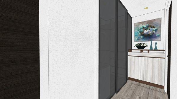 台南興富發 真愛 主臥室走道空間收納系統櫃設計.jpg