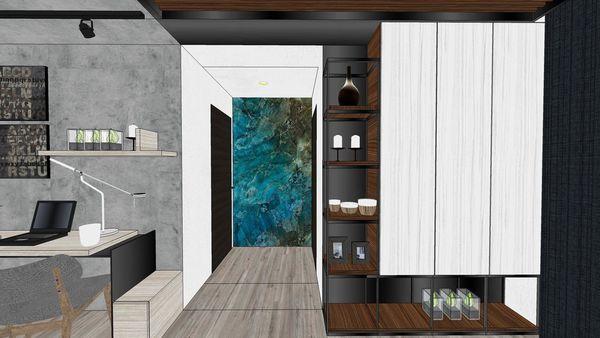 台南興富發 真愛 餐廳空間多功能收納展示系統櫃設計.jpg