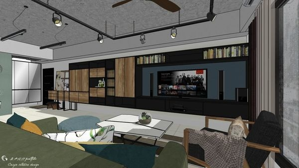 惠宇新觀A戶 客廳空間系統電視櫃設計.jpg