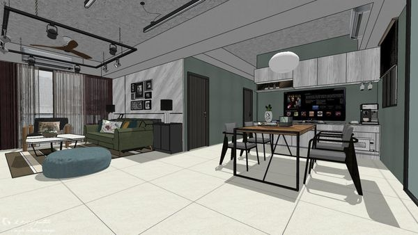 惠宇新觀A戶 餐廳空間餐廚收納系統櫃設計.jpg