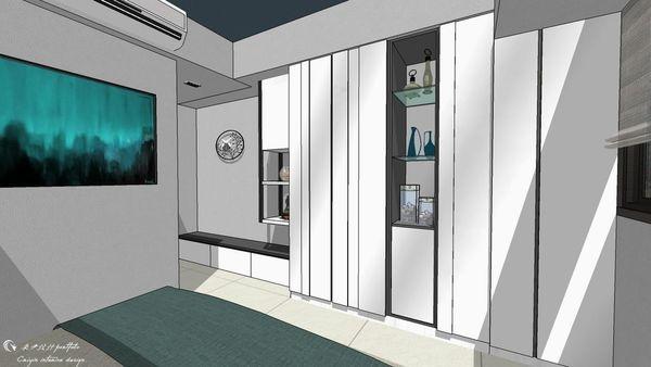 惠宇新觀A戶 主臥室造型系統收納衣櫃設計.jpg