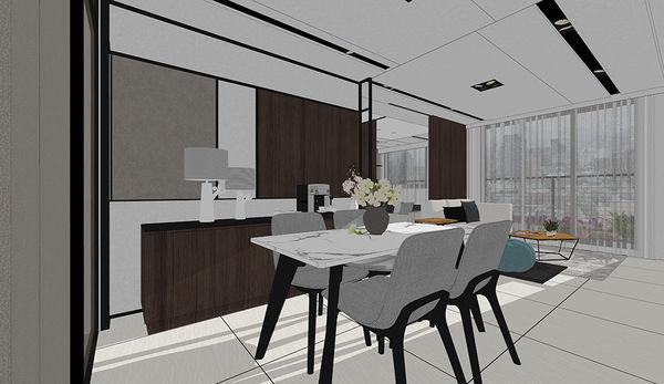 惠宇新觀室內設計 餐廳空間餐廚系統櫃設計.jpg