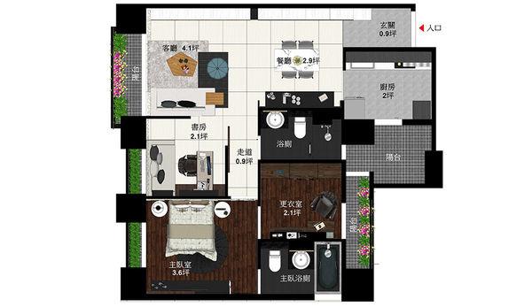 惠宇新觀室內設計 室內空間設計規劃平面圖.jpg