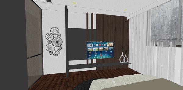 惠宇新觀室內設計 主臥室空間系統電視櫃設計.jpg