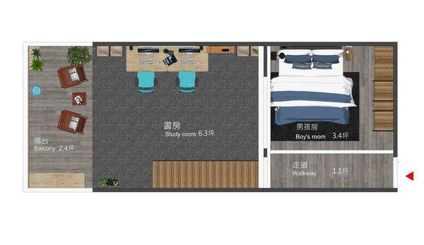 南投 草屯 老屋翻新 三樓室內空間設計規劃平面圖.jpg