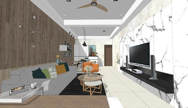 南投 草屯 老屋翻新 客廳空間系統電視牆設計.jpg