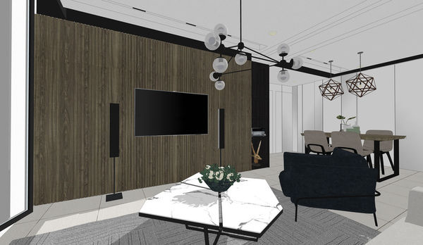 烏日老屋改造翻新 客廳空間系統電視收納櫃設計.jpg