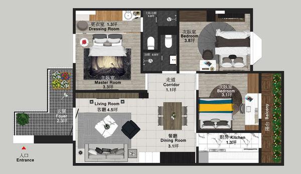 烏日老屋改造翻新 室內空間規劃設計平面圖.jpg