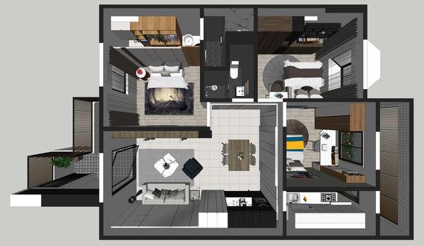 烏日老屋改造翻新 室內空間規劃設計3D圖.jpg