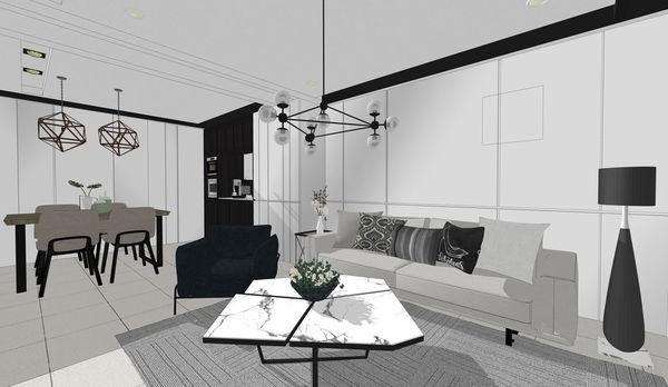 烏日老屋改造翻新 客廳空間收納系統櫃設計.jpg