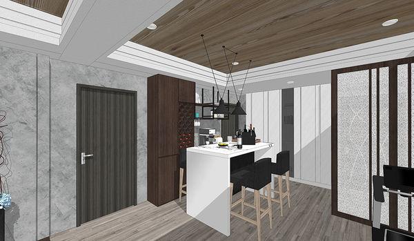 苗栗敦藏御品 餐廳空間鐵件系統層板櫃設計.jpg