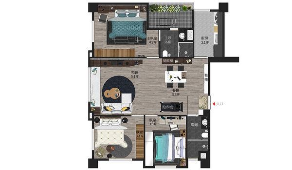 苗栗敦藏御品 室內空間設計規劃平面圖.jpg
