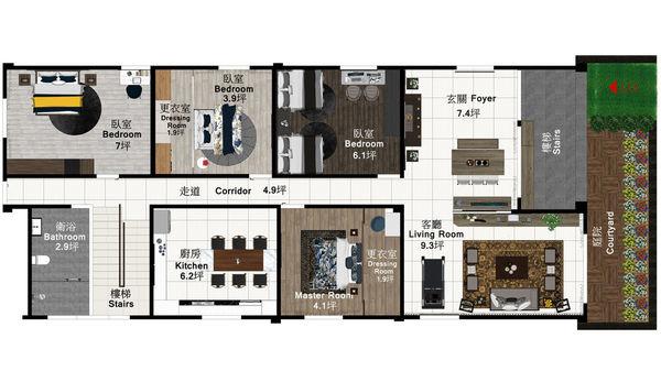 南投埔里舊屋改造翻新 室內空間設計規劃平面圖.jpg