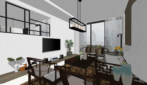 南投埔里老屋改造翻新 客廳空間造型電視牆設計.jpg