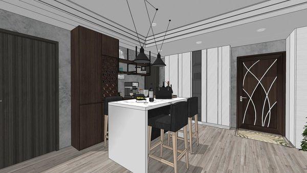 苗栗敦藏御品 餐廳空間系統餐櫥櫃設計.jpg